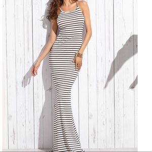 🆕Stunning open back stripe maxi mermaid bottom